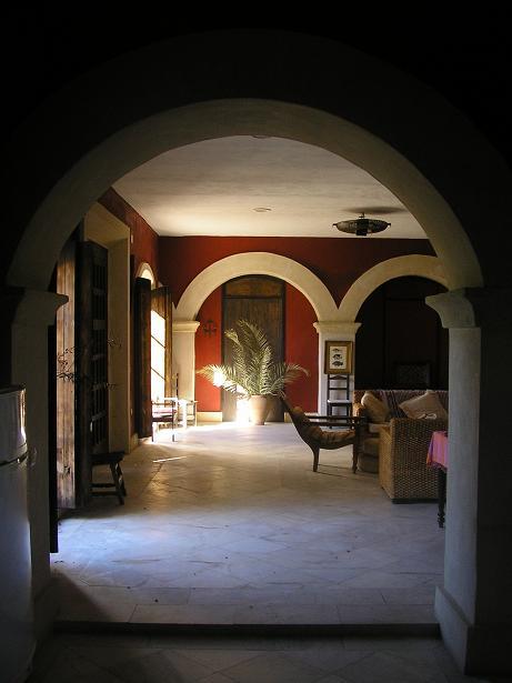 Baños Arabes Vejer De La Frontera: de baño en la casa principal y un dormitorio en el apartamento que se